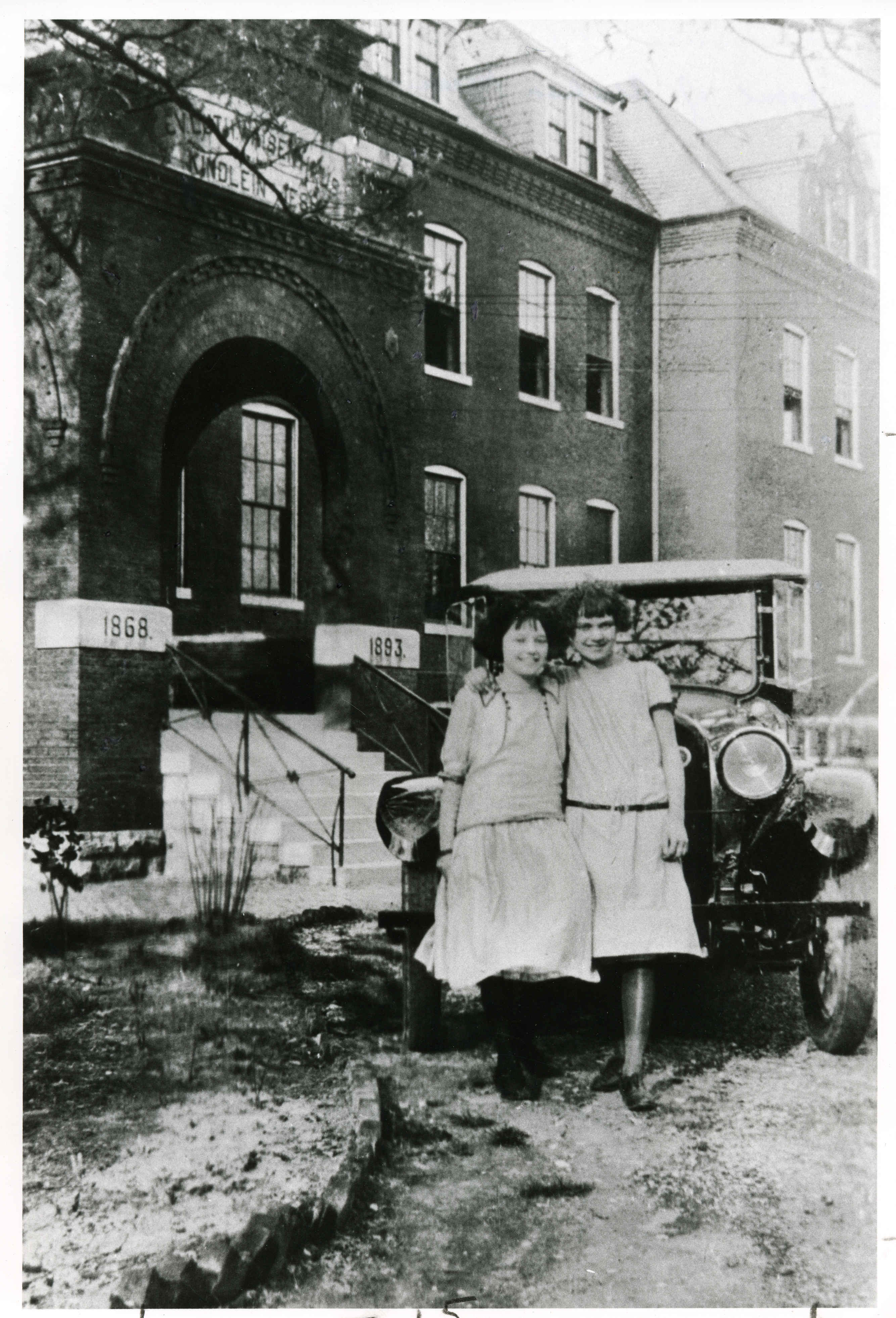 Ann Tomasovic and Friend in front of Orphan House