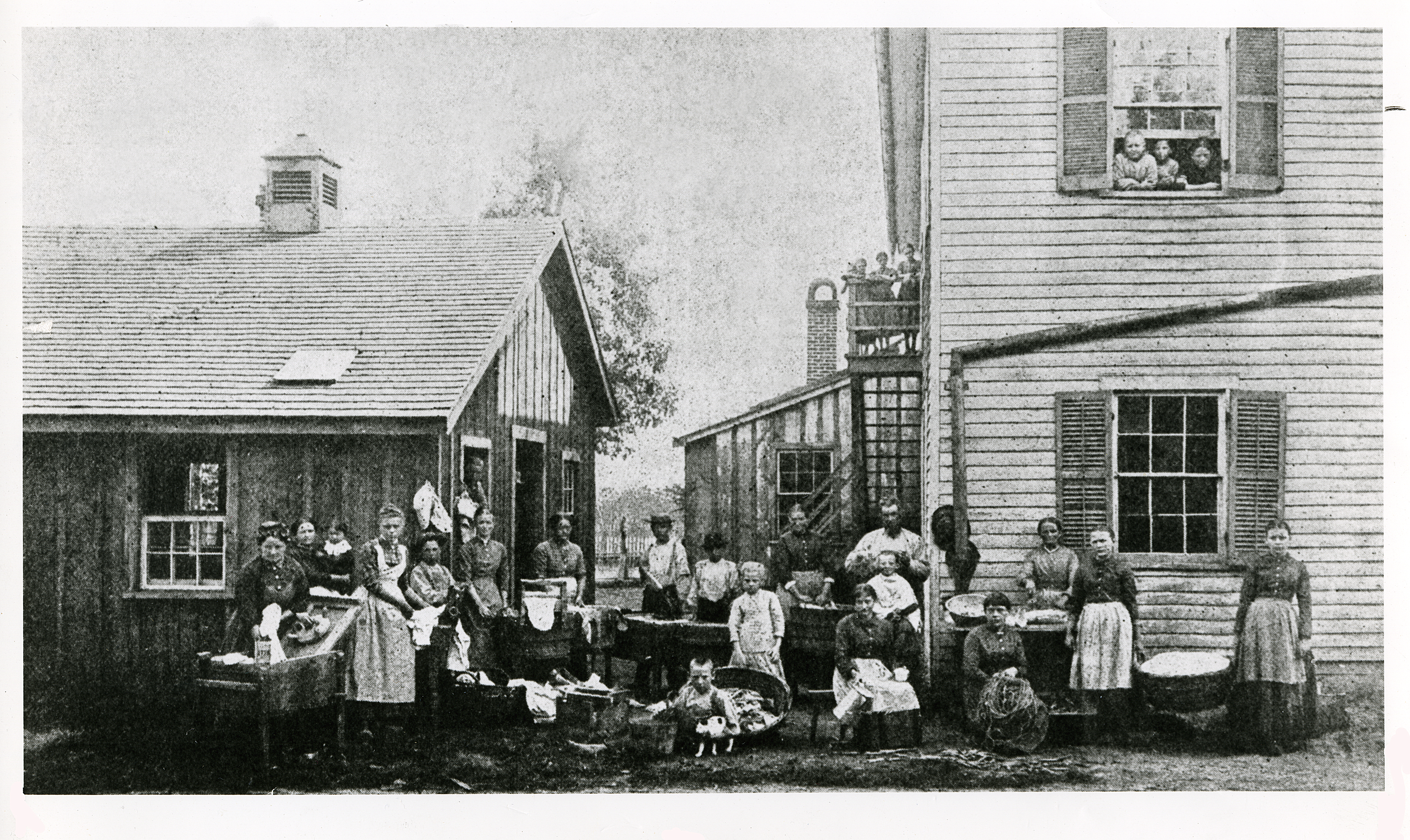 Laundry Day at Orphan Home 1870